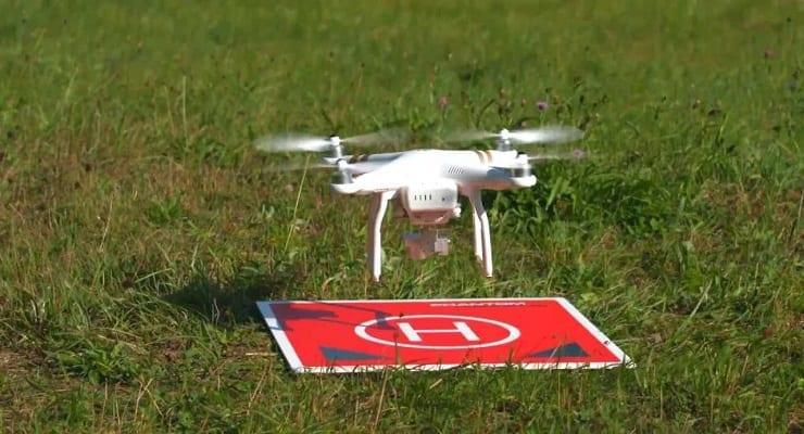 Drone Landing On The Landing Padd